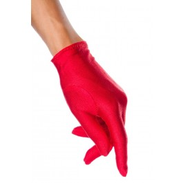 Short Satin Gloves Red