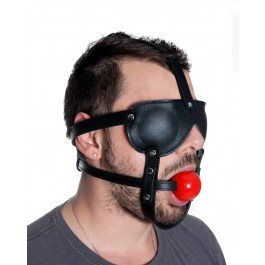 Extreme Leather Head Harness & Gag