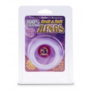 Cock & Ball Rings 3 Pieces Clear