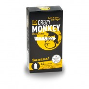 The Crazy Monkey Condoms Banana 12 Pcs