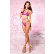 Leg Avenue - Crotchless Lace Teddy