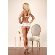 Leg Avenue-Bra with ruffle back panty