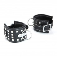 Leather Handcuffs With Studs