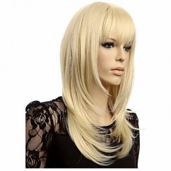 Wig Capless Wave Straight Blonde
