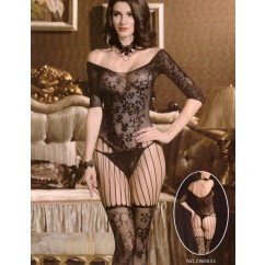 Miss Feliz - Bodystocking Black O/s