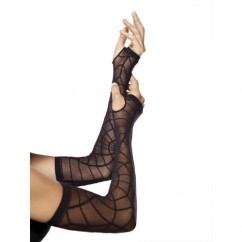 La Sheer Spiderweb Warmer O/S Black