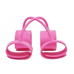 Ns Novelties - Silicone Submissions Hog Tie Cuffs Pink