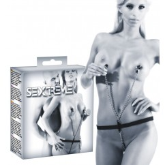 Chained Thong With Nipple Clamps