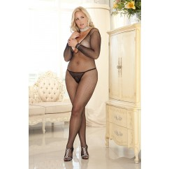 Deep - V Longsleeve Fishnet Bodystocking