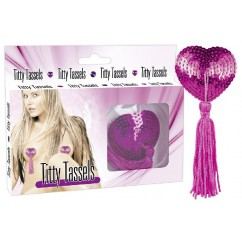 Titty tassels heart pink