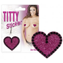 Titty sticker heart pink
