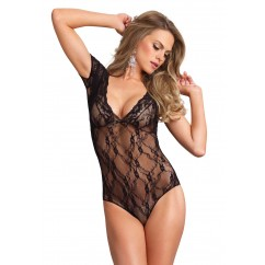 Leg Avenue - Floral Lace Backless Teddy