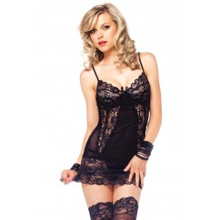 Leg Avenue – Chemise And Matching G-String