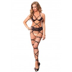 Leg Avenue – Lace Wrap Around Bodystocking Black