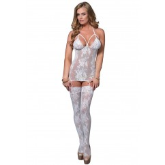 Leg Avenue – Lace Suspender Bodystocking White