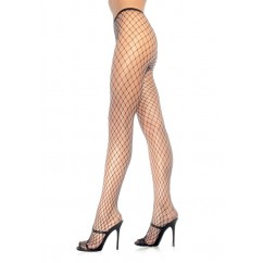 Leg Avenue-Diamond fishnet pantyhose white
