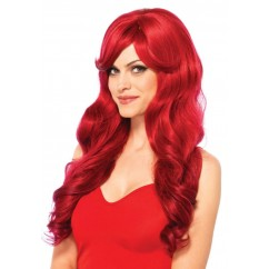 Leg Avenue-Long wavy red wig