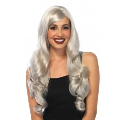 Leg Avenue - Long Wavy Wig Grey