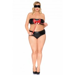 Andalea - Set Black With Red Bow & Mask