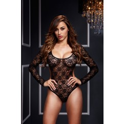 Baci Lingerie - Lazy Bodysuit Back Cutout 1pc Black