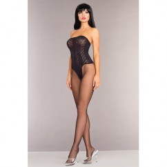 Be Wicked - Strapless Bodystocking With Open Crotch