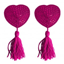 Ouch! - Nipple Tassels - Heart Pink